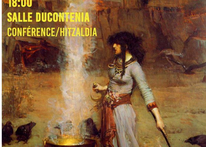 Le cycle de conférence Eusko ikaskuntza  débutera avec un conférence sur l'histoire des sorcières de Zugarramurdi