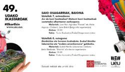 Conférences complémentaires d'UEU à Eusko Ikaskuntza Iparralde le 7 et…